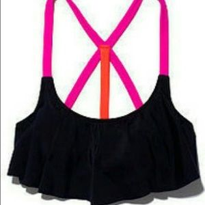 VS Pink Flounce Swim Top
